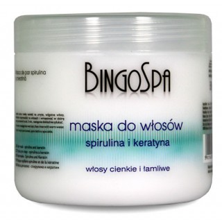 Hair mask with Spirulina and Keratin BingoSpa