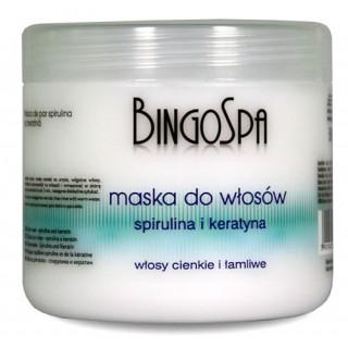 Maska do włosów ze spiruliną i keratyną BingoSpa